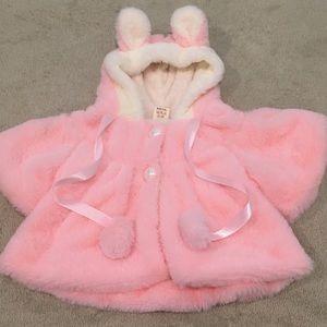 Butter soft Easter baby girl pink shrug 3-6M